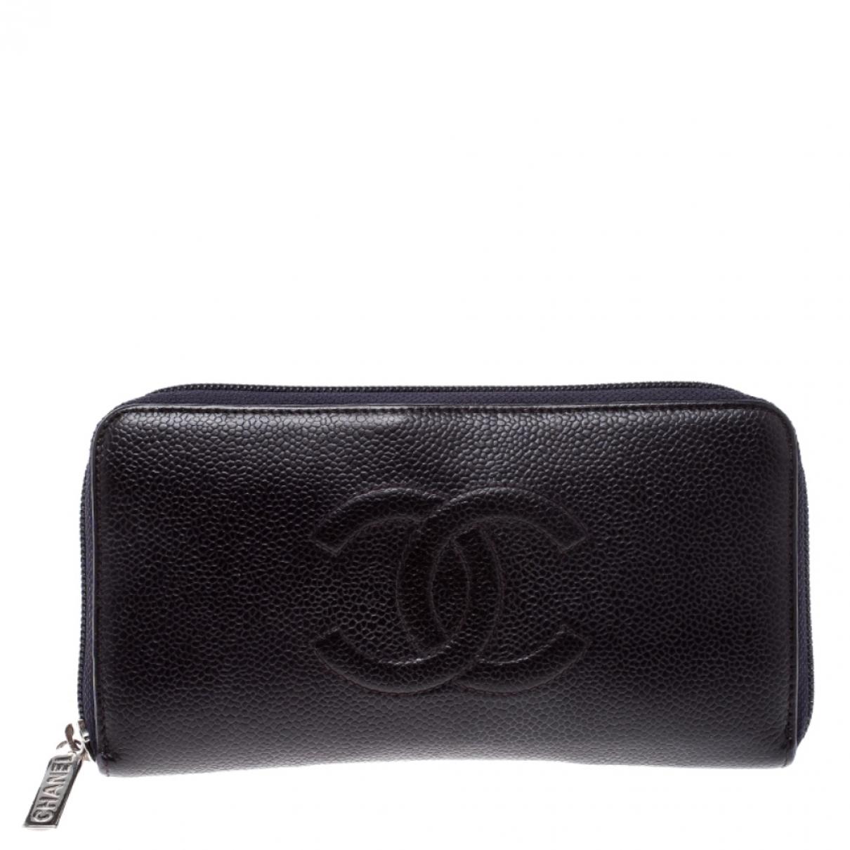 Chanel Timeless/Classique Portemonnaie in  Lila Leder