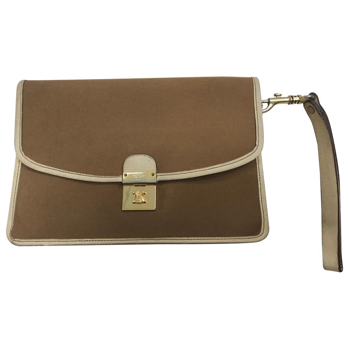 Celine \N Camel Cloth Clutch bag for Women \N