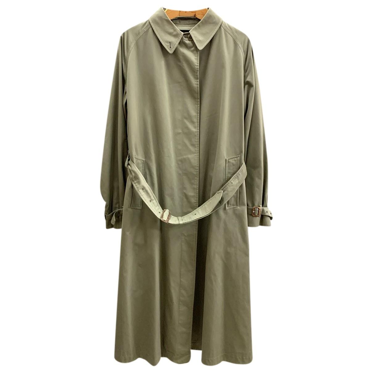 Burberry - Manteau   pour femme en coton - kaki