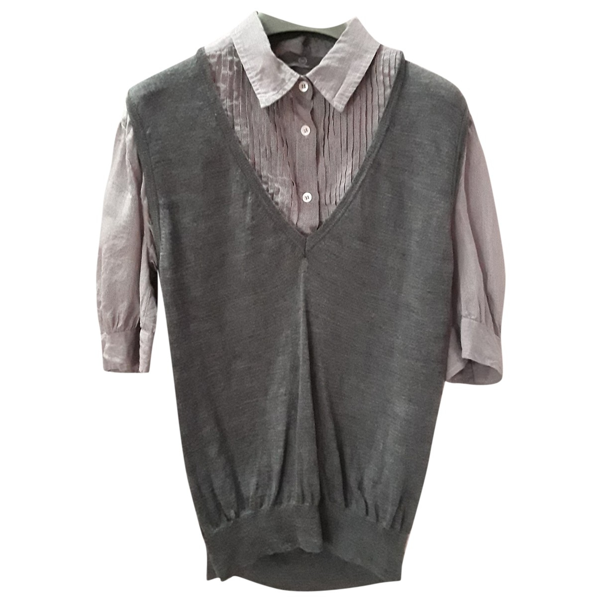 Mcq \N Grey Wool  top for Women 44 FR