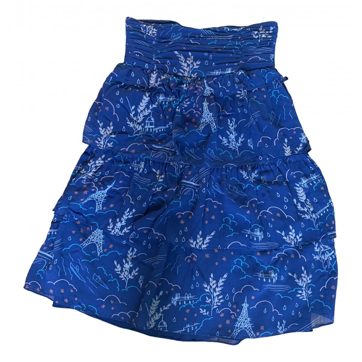 Cacharel \N Blue Silk skirt for Women 38 FR