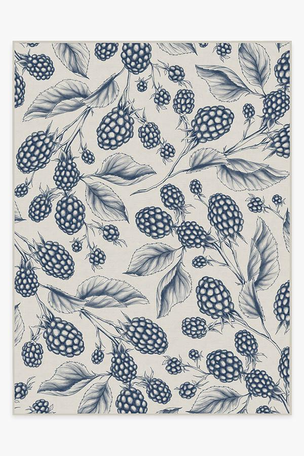 Washable Rug Cover | Berry Blue Rug | Stain-Resistant | Ruggable | 9x12