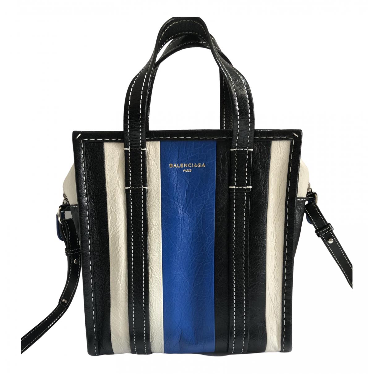 Balenciaga Bazar Bag Handtasche in  Blau Leder