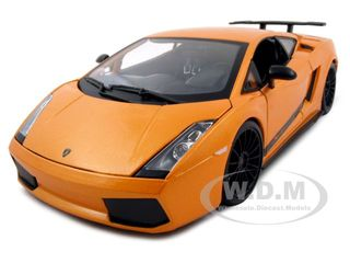 2007 Lamborghini Gallardo Superleggera Orange 1/18 Diecast Model Car by Maisto
