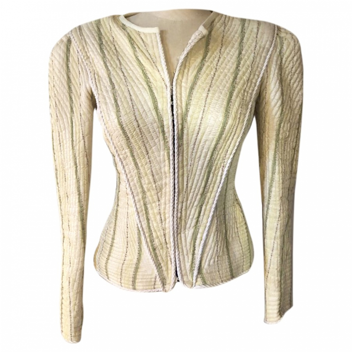 Non Signé / Unsigned \N Ecru Silk jacket for Women 12 UK