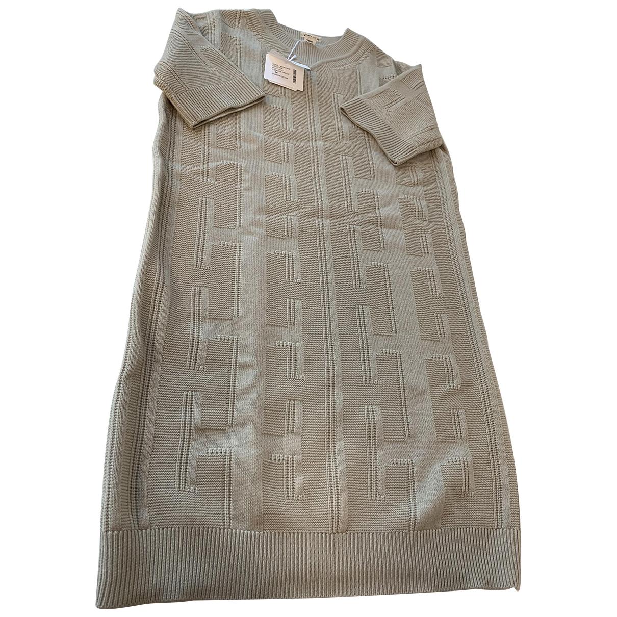 Hermes - Robe   pour femme en laine - beige