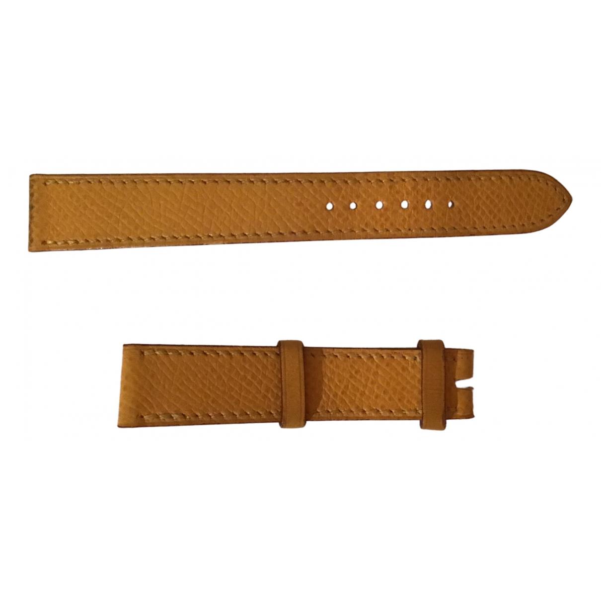 Hermès Arceau Yellow Leather watch for Women \N
