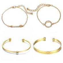 4pcs Rhinestone Ring Bracelet