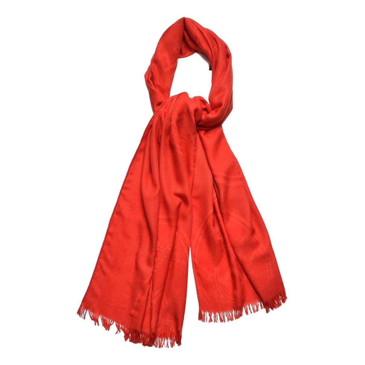 Hermes \N Schal in  Rot Kaschmir