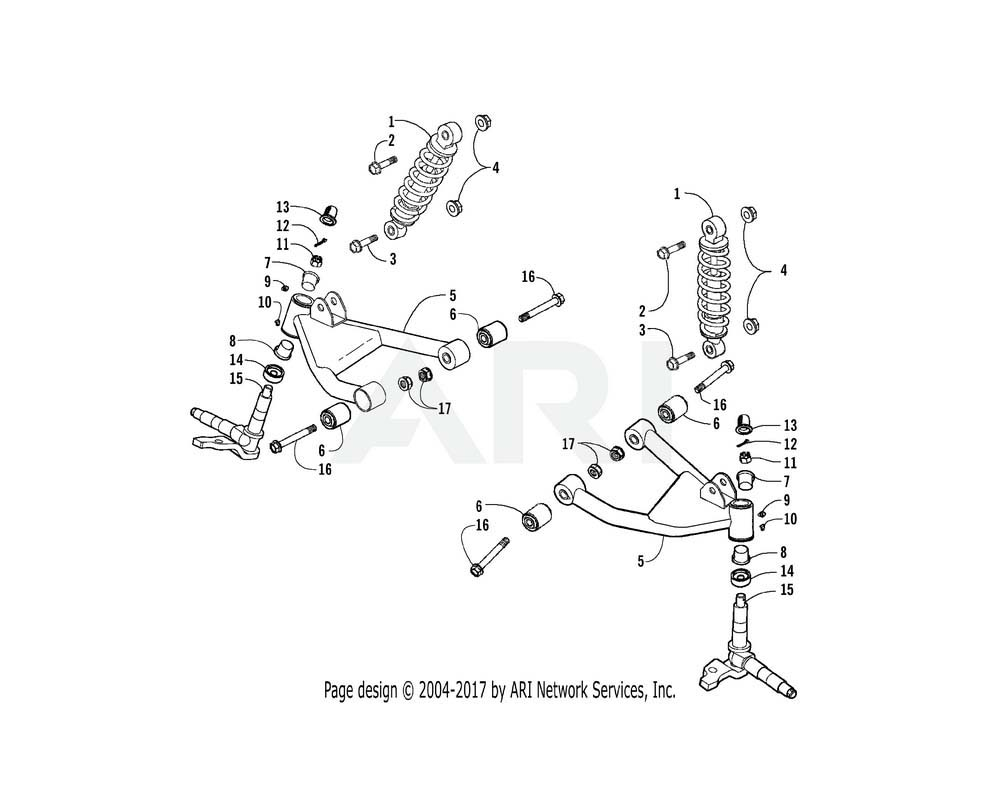 Arctic Cat OEM 3305-453 Arm Assembly L Swing (Silver)