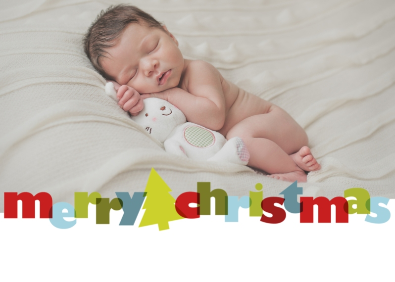 Christmas Photo Cards Mail-for-Me Premium 5x7 Folded Card , Card & Stationery -Colorful Christmas