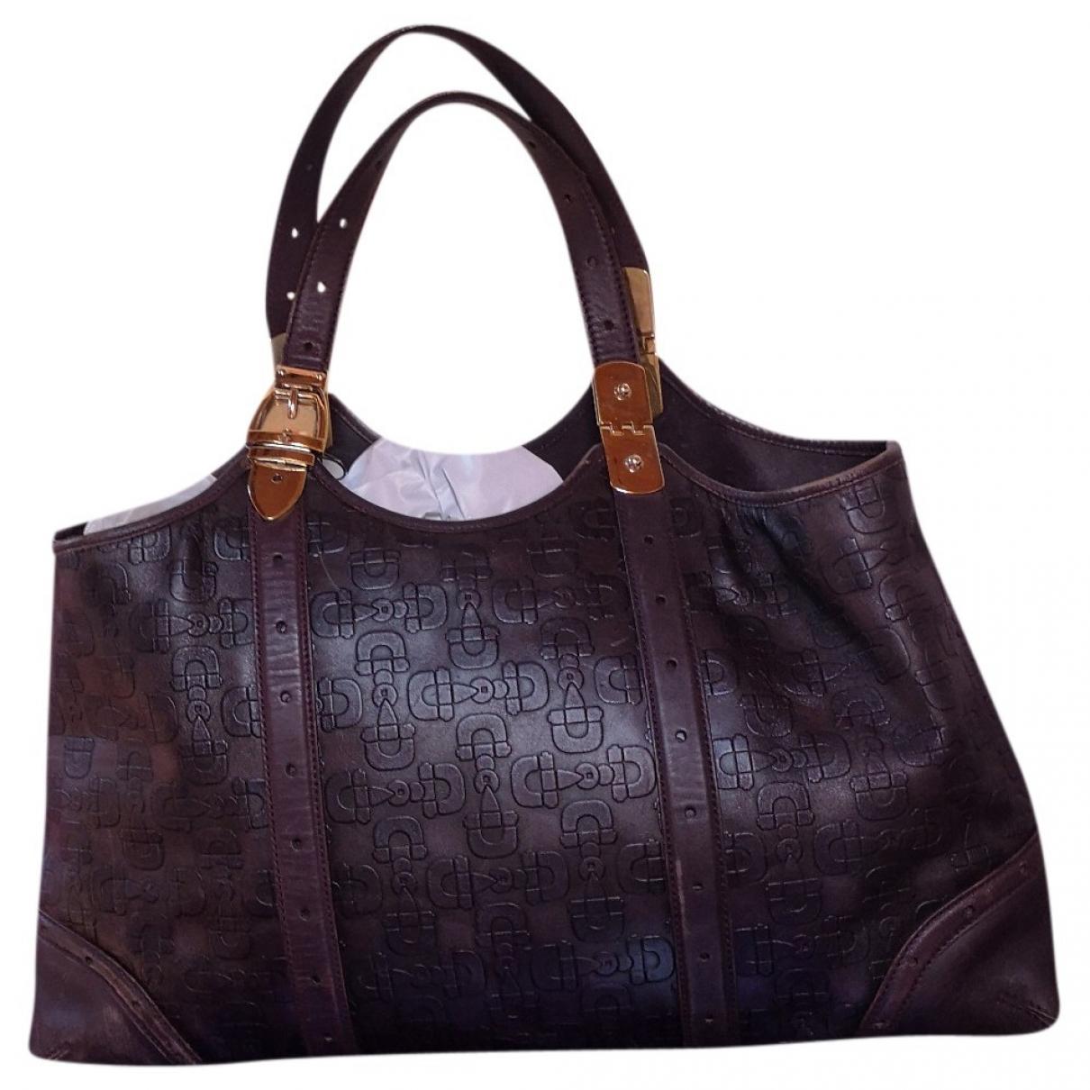 Gucci \N Purple Leather handbag for Women \N