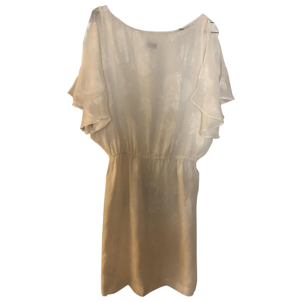 Halston Heritage \N White Silk dress for Women 6 US