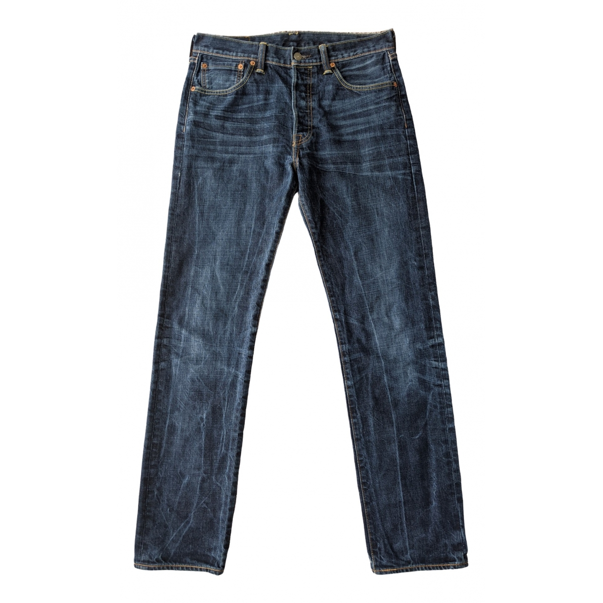 Levi's Vintage Clothing \N Navy Cotton Jeans for Women 32 US