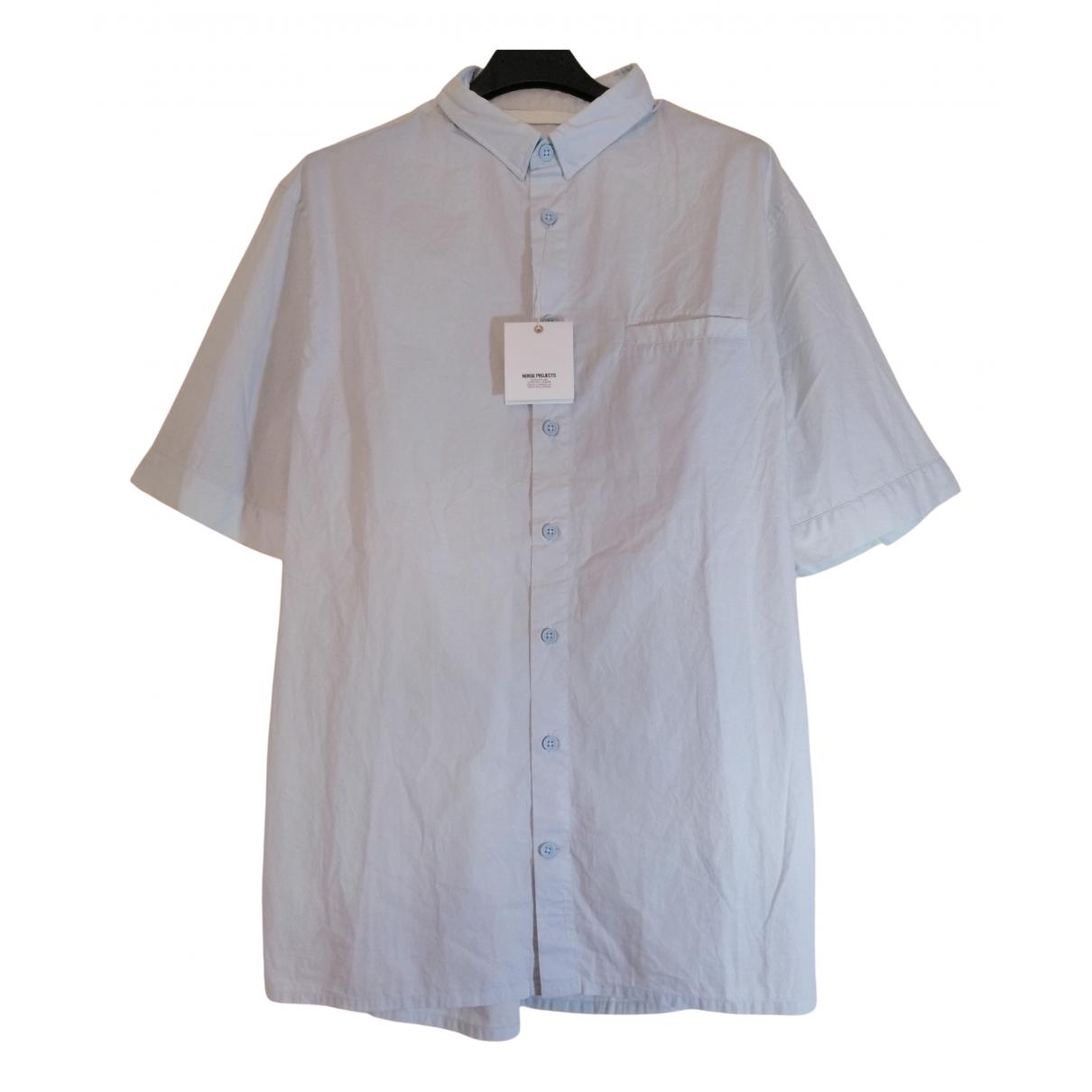 Norse Projects - Chemises   pour homme en coton - bleu