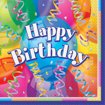 Brilliant Birthday Luncheon Napkins, 16ct For Birthday Party