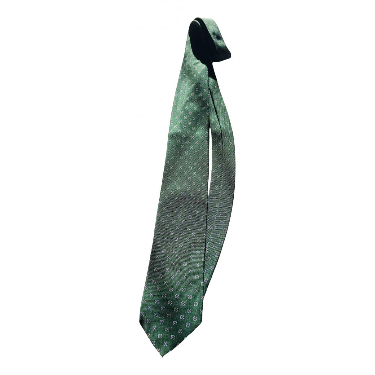 Prada - Cravates   pour homme en soie - vert
