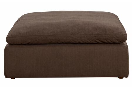 SU-145830-391088 Cloud Puff Slipcovered Square Sectional Modular Ottoman  Performance Fabric