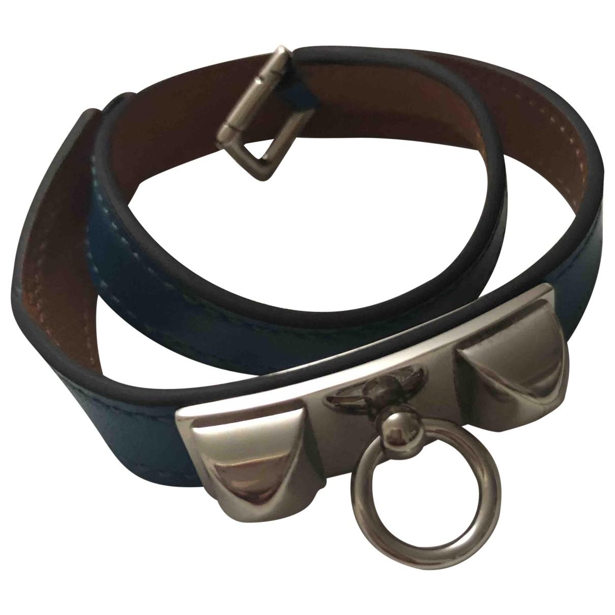 Hermès Rivale Blue Leather bracelet for Women \N