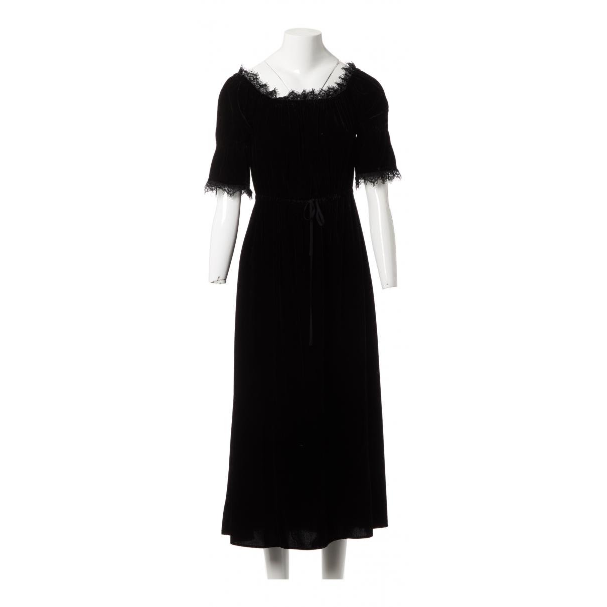 The Kooples \N Kleid in  Schwarz Viskose
