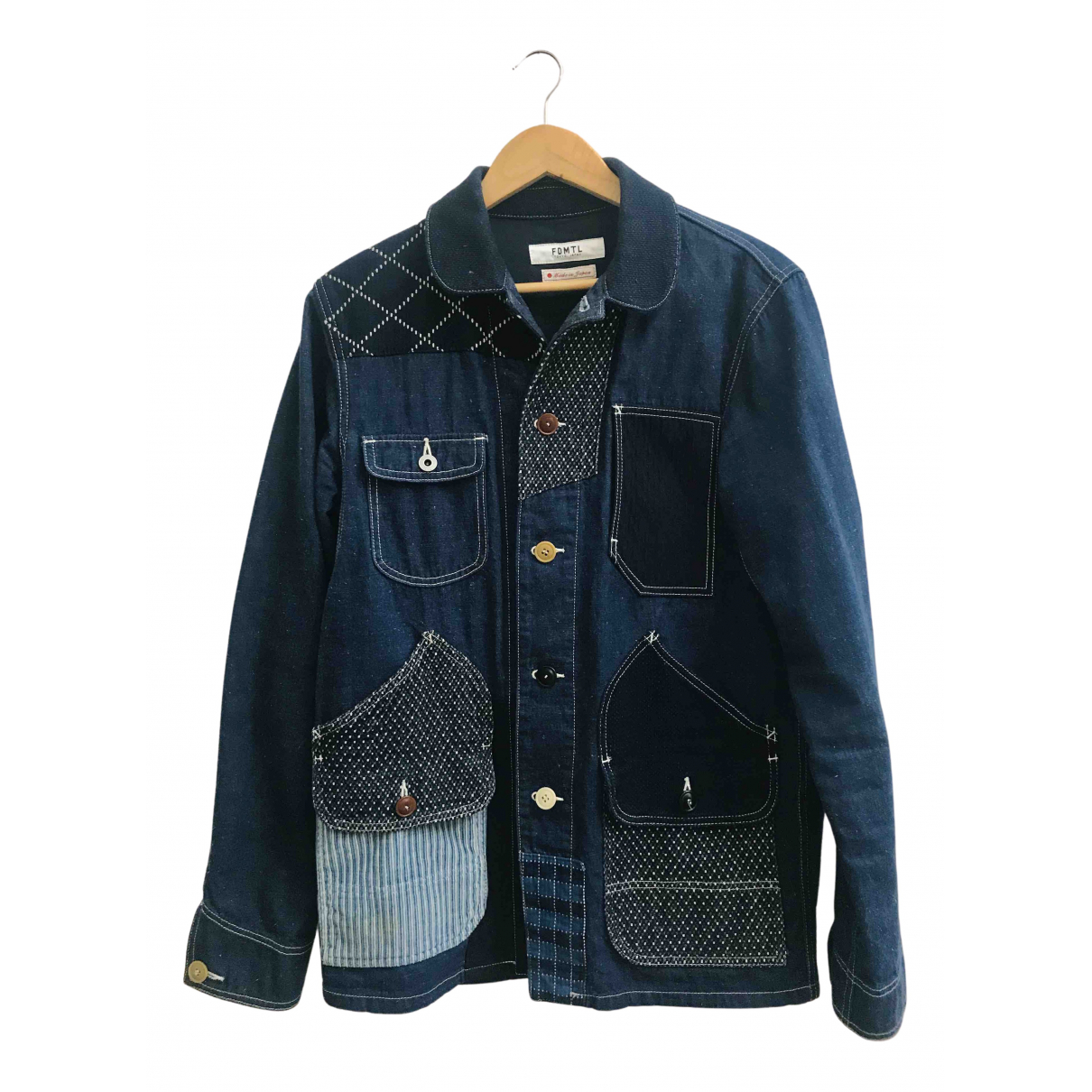 Non Signé / Unsigned N Navy Cotton jacket  for Men M International