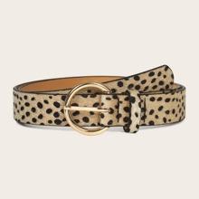 Dalmatian Pattern Buckle Belt