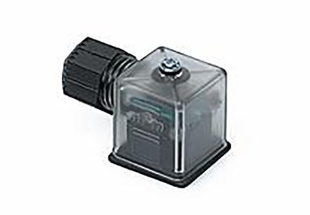 Molex , 121207 Series 2P+E DIN 43650 A DIN 43650 Solenoid Connector, 24 V Voltage, Clear