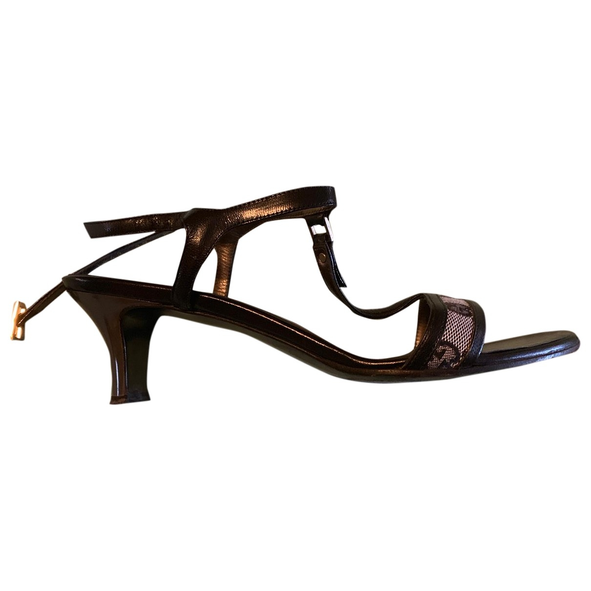 Gucci \N Black Leather Sandals for Women 39 EU
