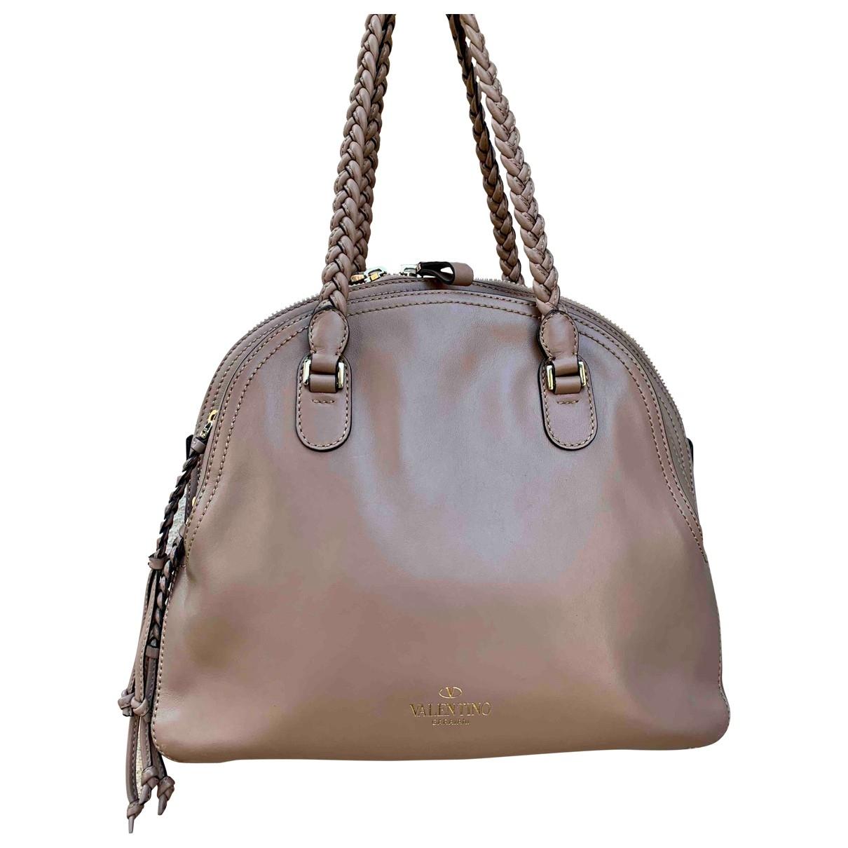 Valentino Garavani \N Handtasche in  Rosa Leder