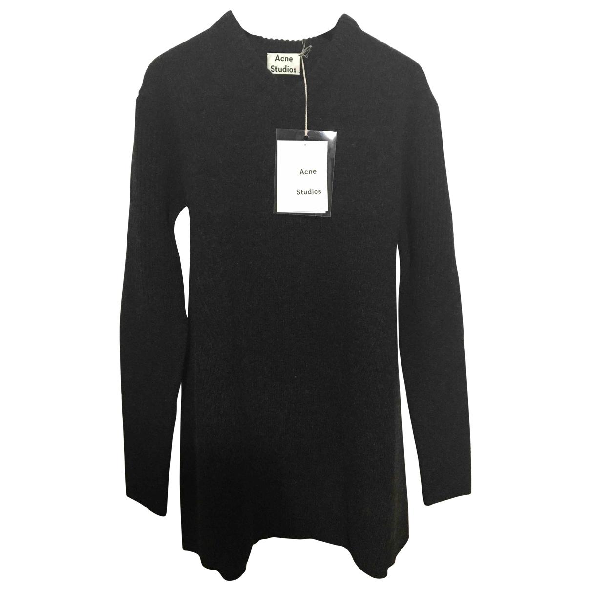 Acne Studios - Robe   pour femme en laine - anthracite