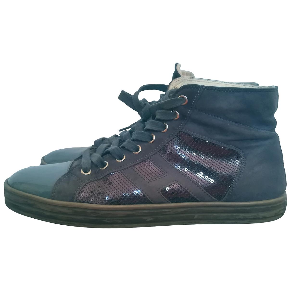 Hogan \N Sneakers in  Blau Kautschuk