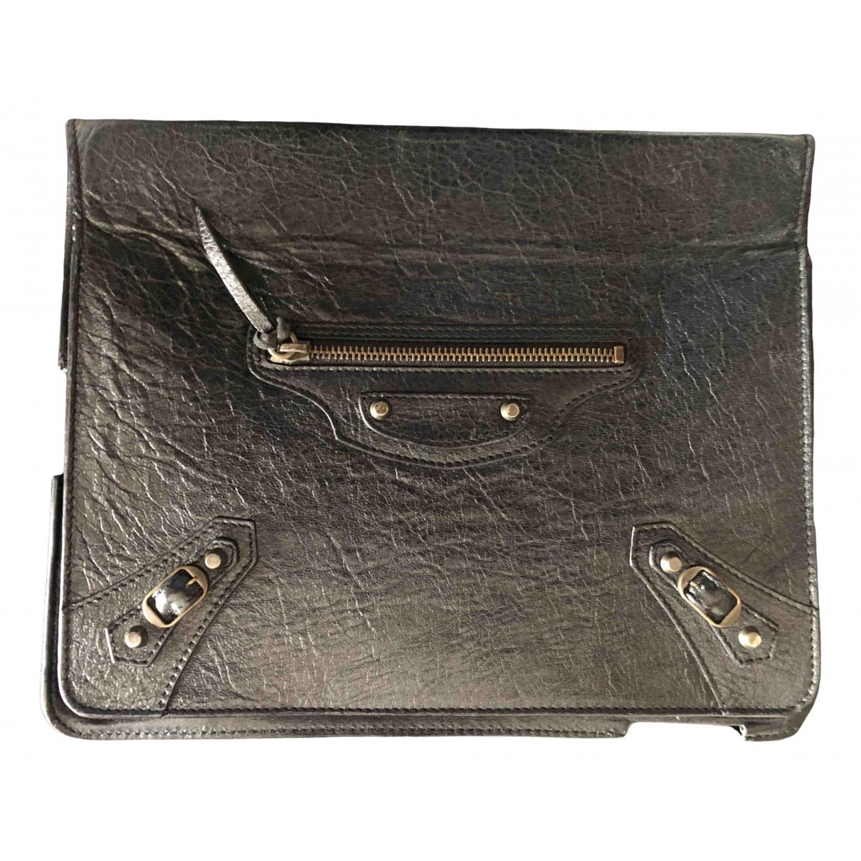Balenciaga \N Accessoires in  Schwarz Leder