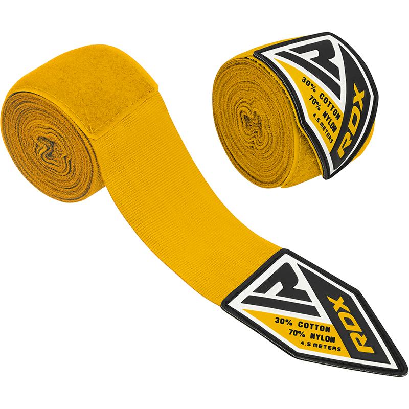 RDX Vendas Manos Elasticas Poliester Amarillo 4 5 Mediano