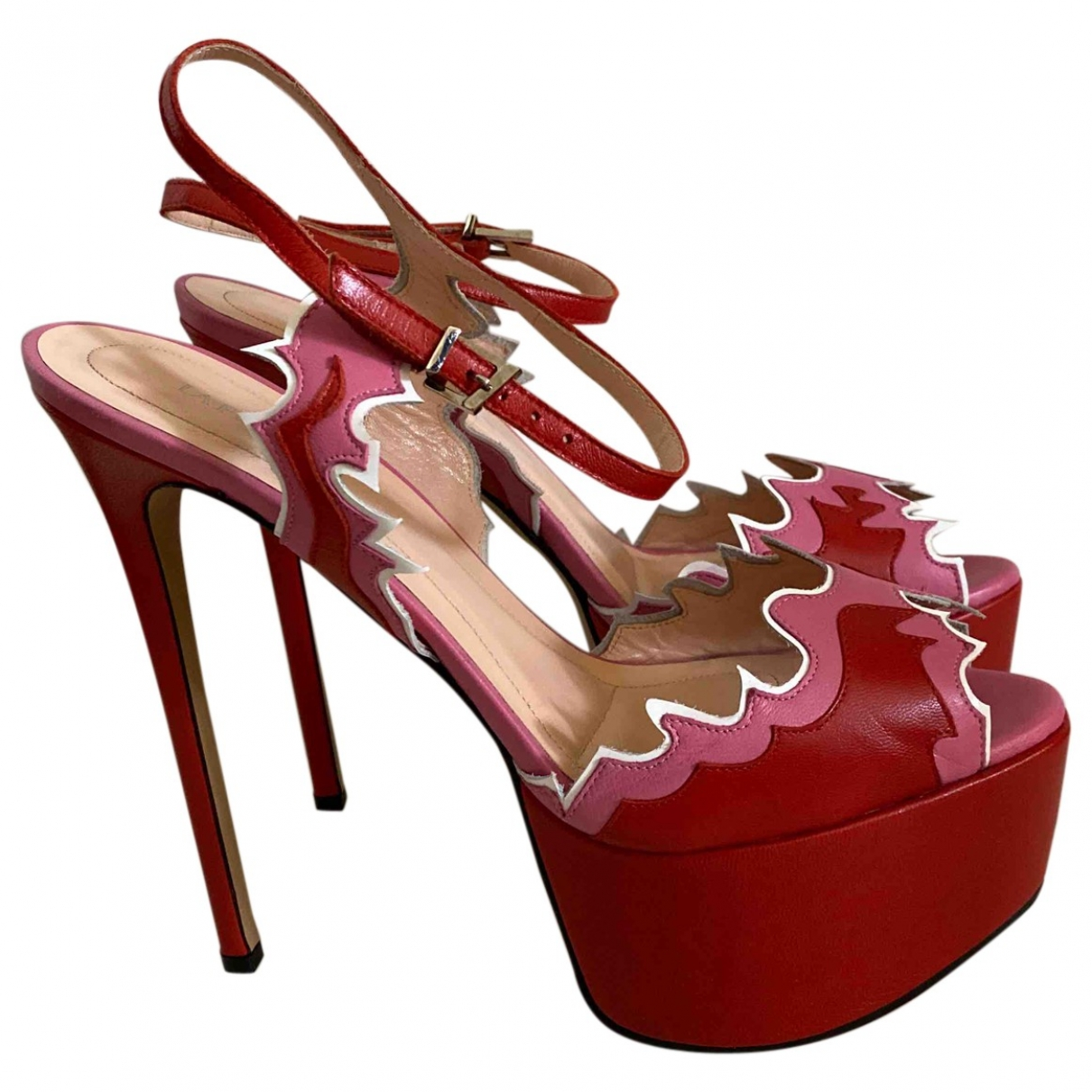 La Perla \N Sandalen in  Rot Leder