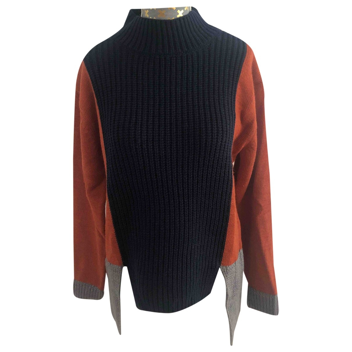 Non Signe / Unsigned \N Pullover in Wolle