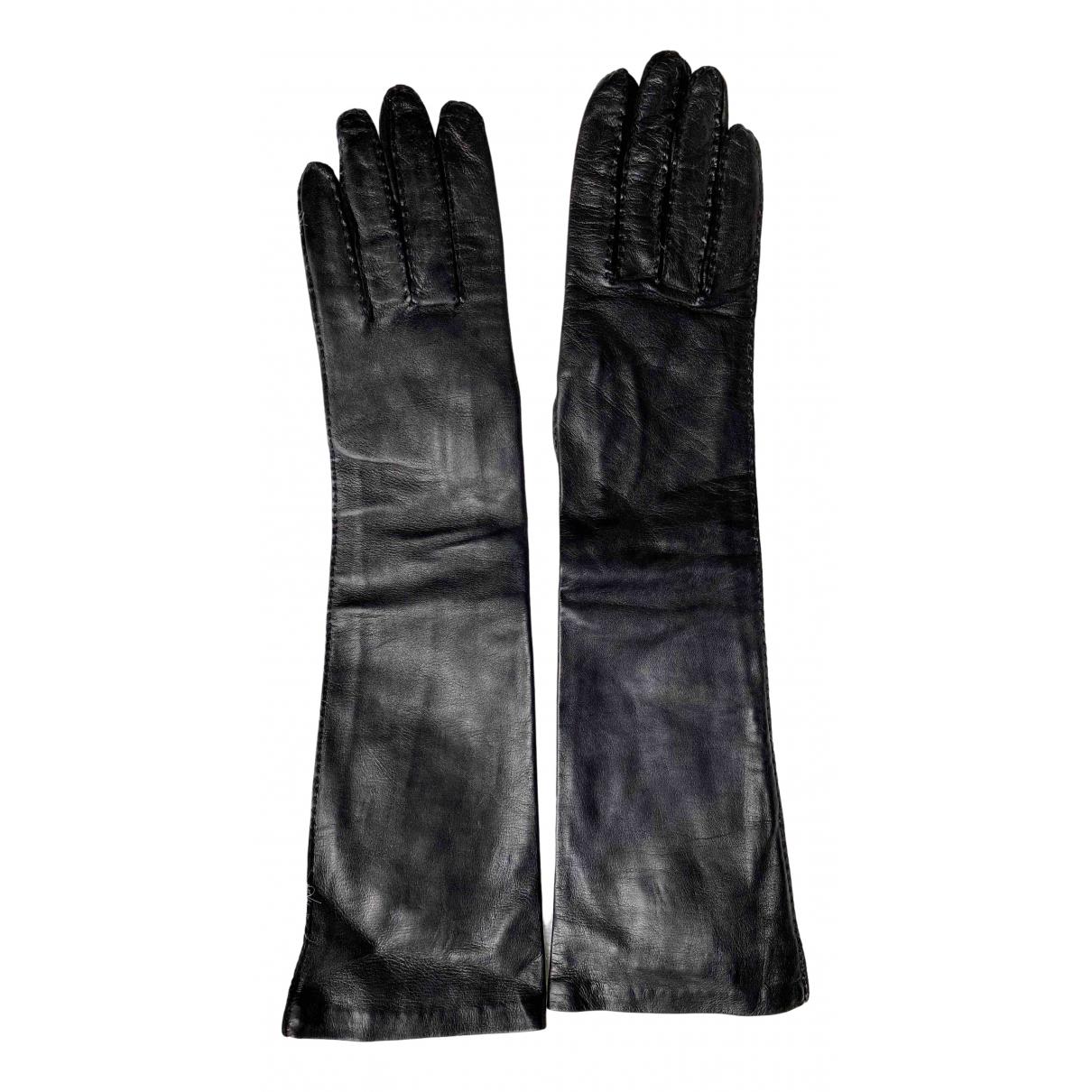 Max Mara s \N Handschuhe in  Schwarz Leder