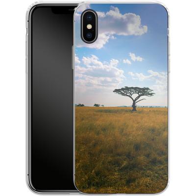 Apple iPhone X Silikon Handyhuelle - Tanzanian Savanna von Omid Scheybani