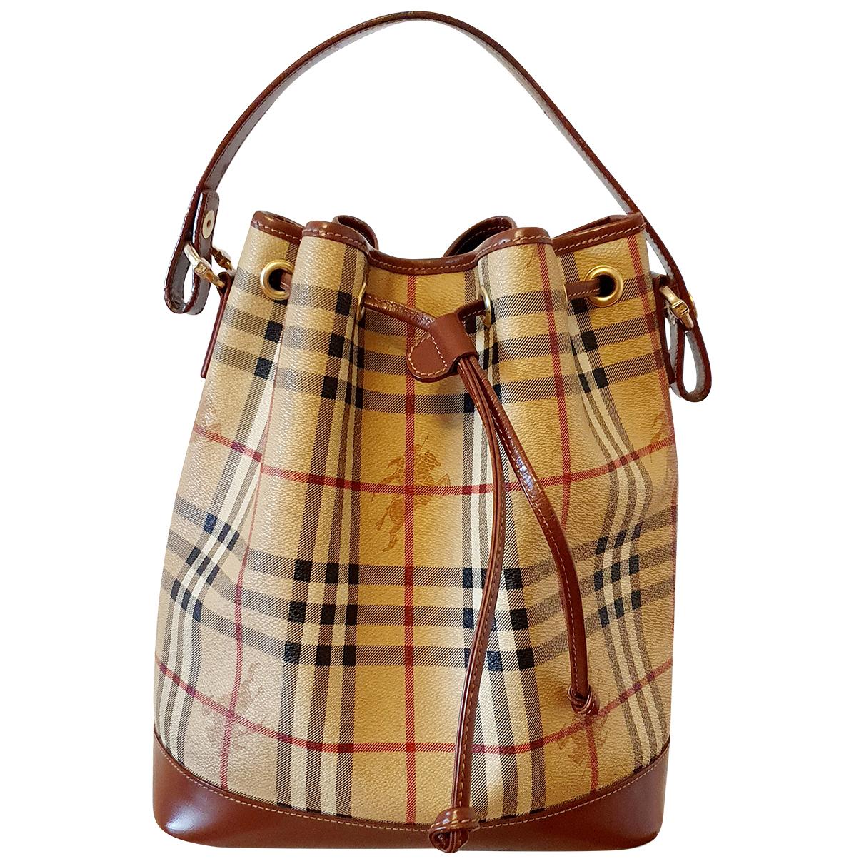 Burberry N Beige Patent leather handbag for Women N