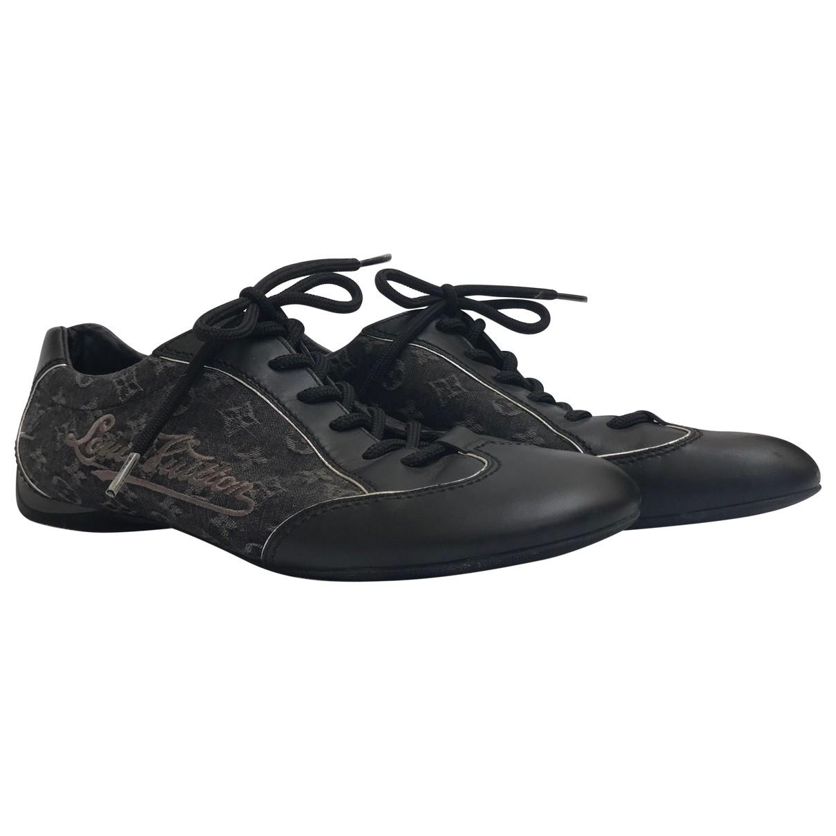 Louis Vuitton FrontRow Sneakers in  Schwarz Leinen