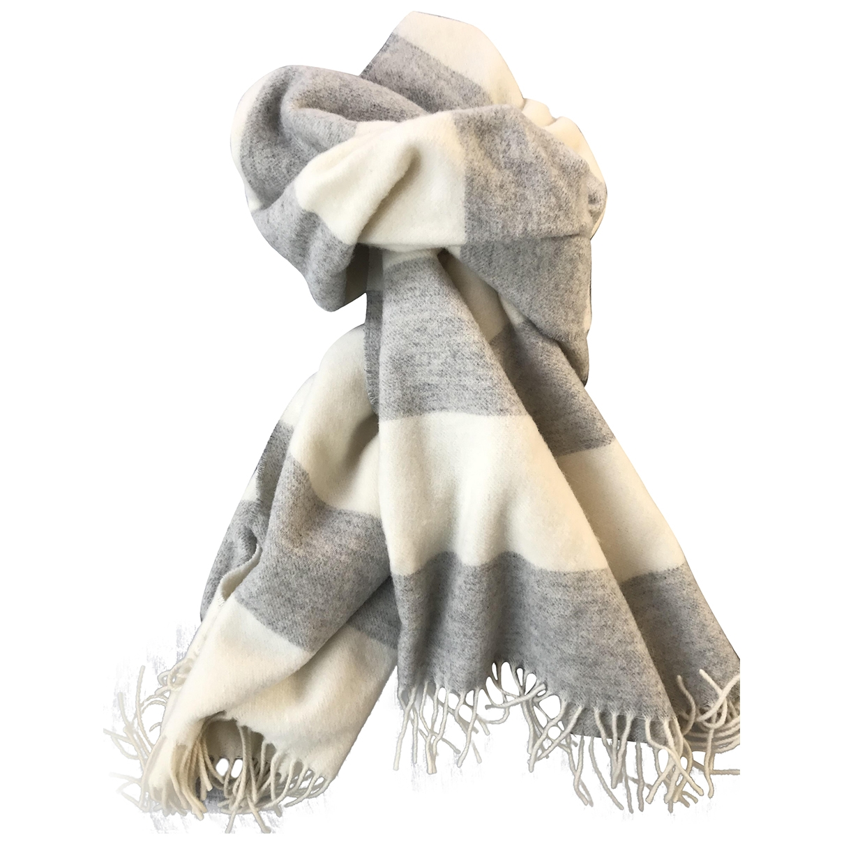 Non Signé / Unsigned \N Grey Wool scarf for Women \N