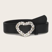 Chain Heart Buckle Belt