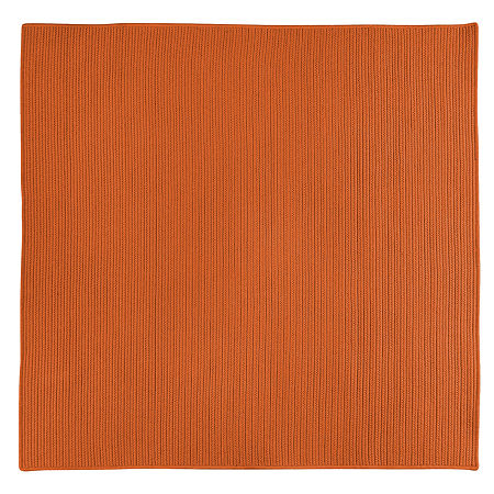 Colonial Mills Nantucket Reversible Braided Indoor/Outdoor Square Rug, One Size , Orange