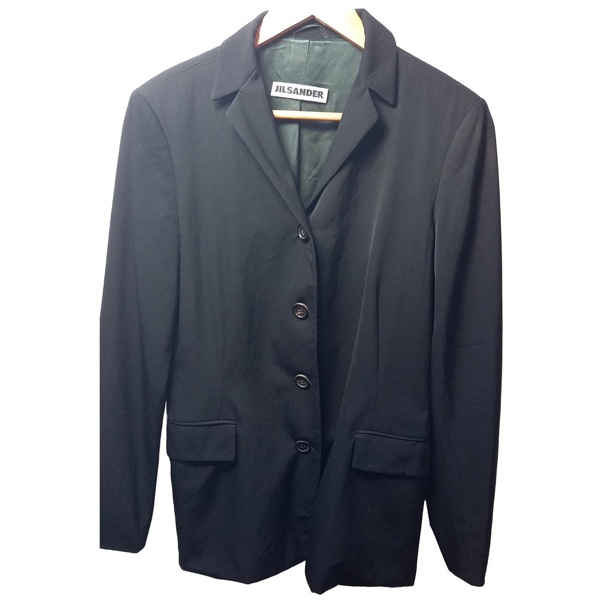 Jil Sander N Black Wool jacket for Women 38 IT