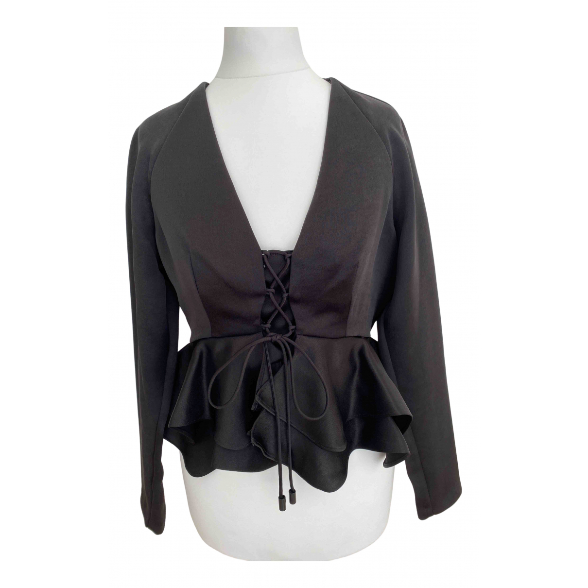 Alexis - Top   pour femme en soie - noir