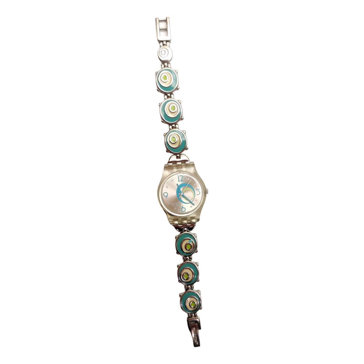 Swatch - Montre   pour femme en acier - turquoise