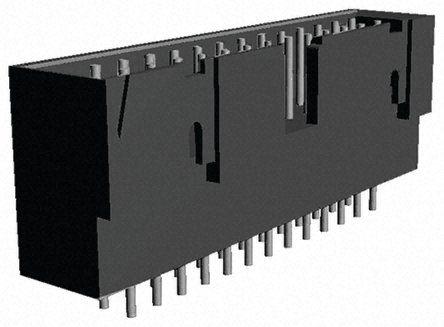 TE Connectivity , AMPMODU MOD II, 10 Way, 2 Row, Straight PCB Header