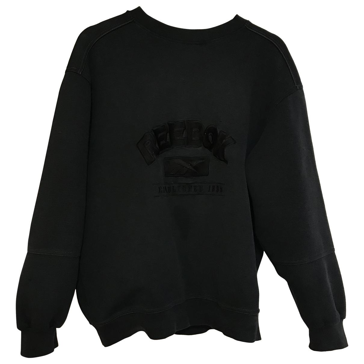 Reebok - Top   pour femme en coton - noir