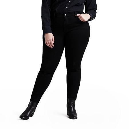 Levi's - Plus Womens High Rise 720 Skinny Fit Jean, 24w , Black