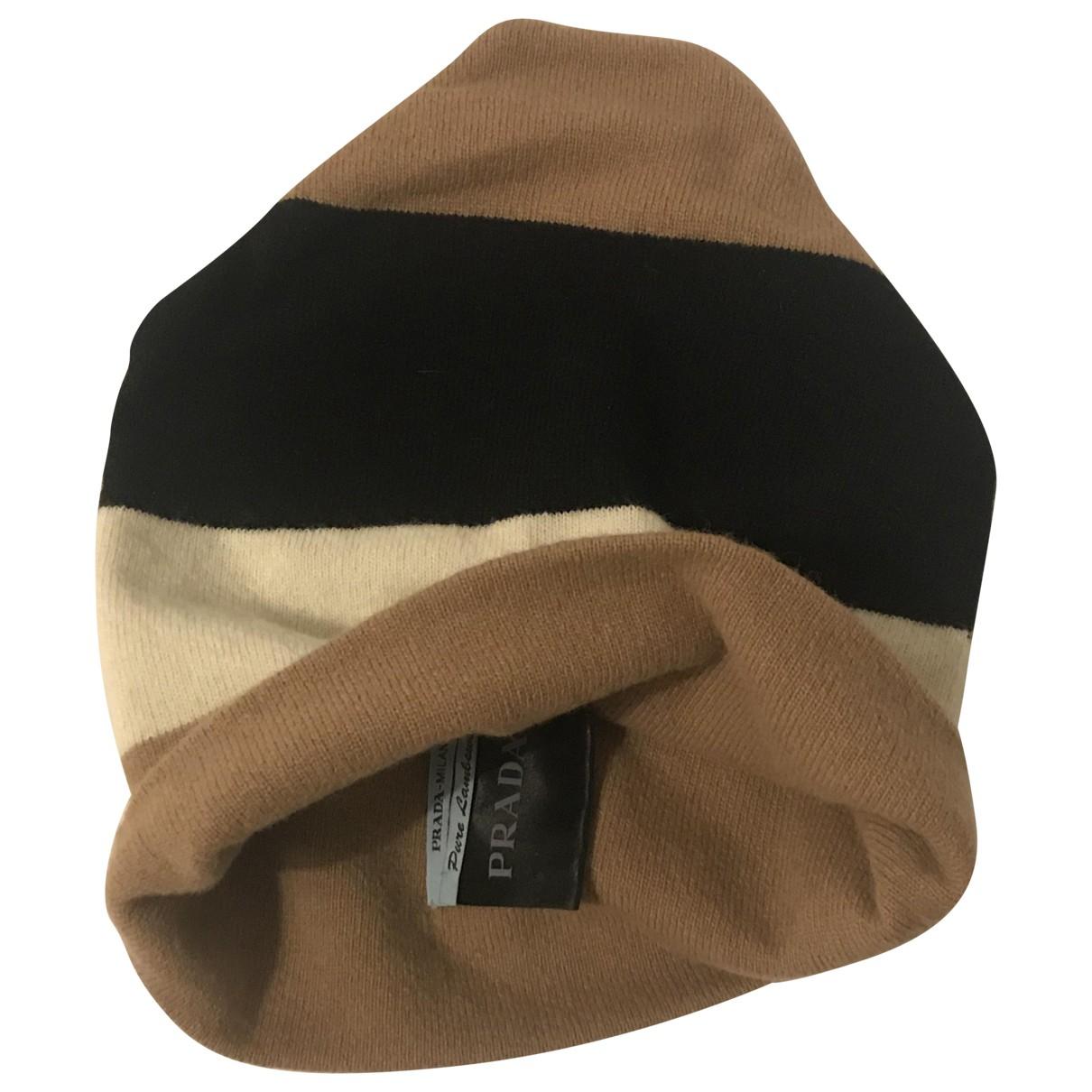 Prada - Chapeau & Bonnets   pour homme en laine - camel