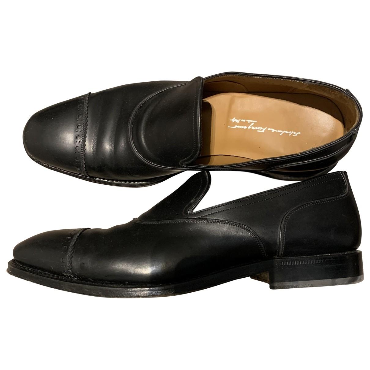 Salvatore Ferragamo \N Black Leather Flats for Men 42.5 EU